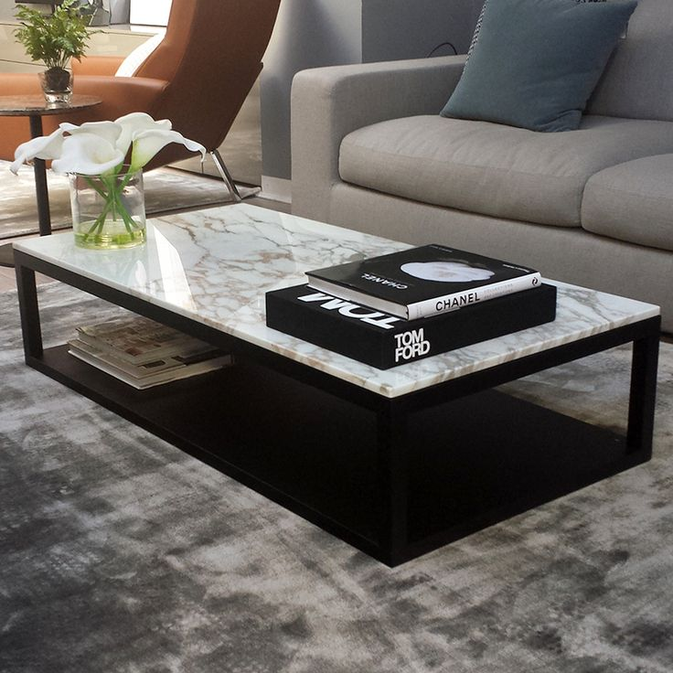 verona marble coffee table in calacatta gold marble top with wenge base AMTGCKZ