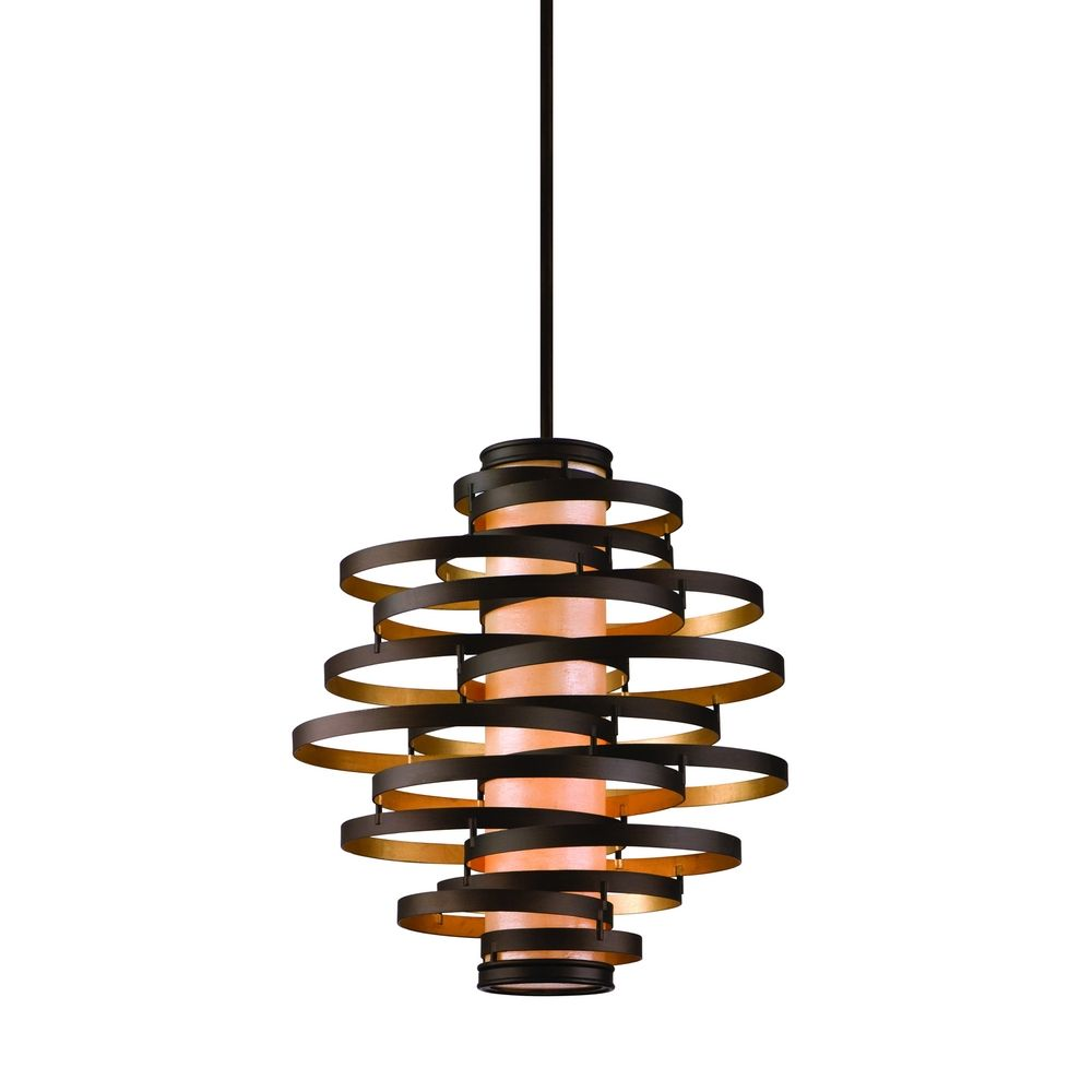 vertical pendant light with inner glass cylinder shade and four lights IFREOPY