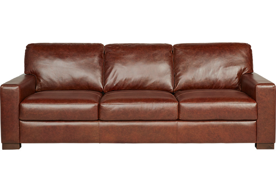 vicario brown leather sofa - leather sofas (brown) ACVHOCY