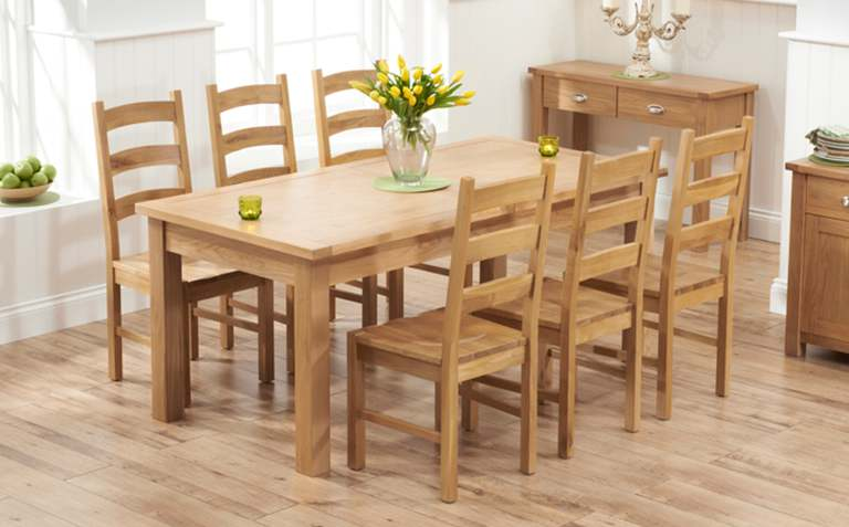 view all oak dining sets MNWLQGP