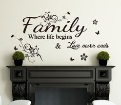 vinyl wall art details about family inspirational wall art quotes vinyl wall sticker/wall  decal- high JIPYBYJ