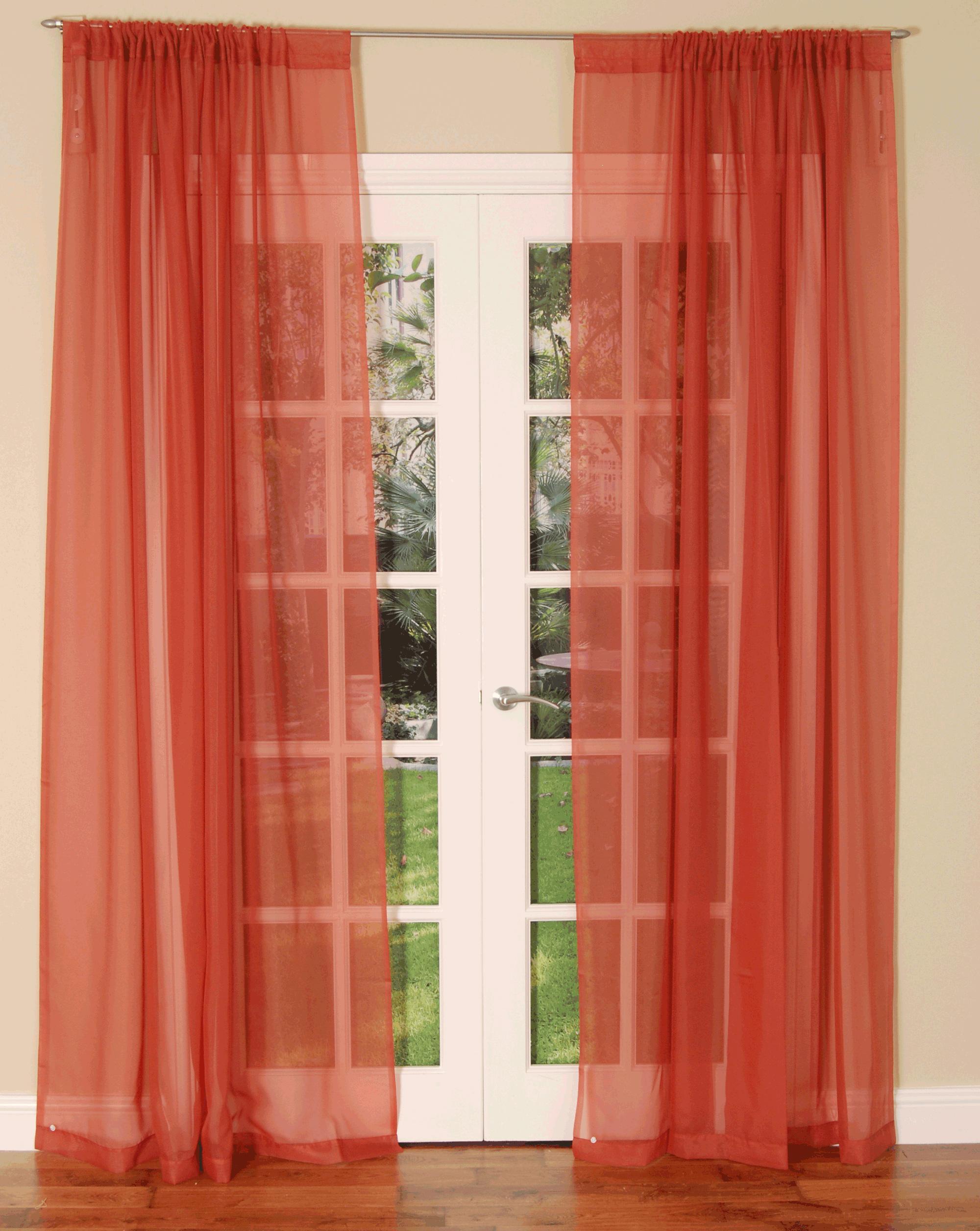 voile curtains slot top voile curtain panel HJTSDEC