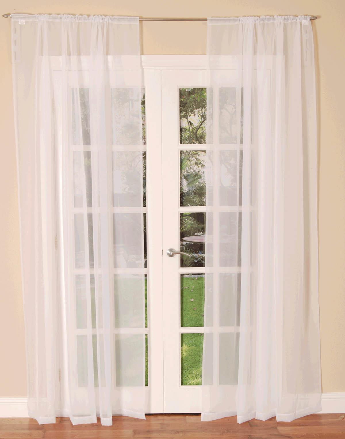 voile curtains slot top voile single curtain panel RPEBYEA