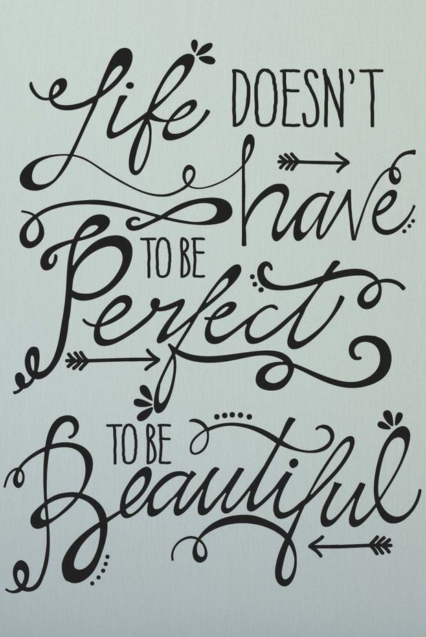 wall art quotes life doesnu0027t have to be perfect to be beautiful #quote #wall # OHHTCDR