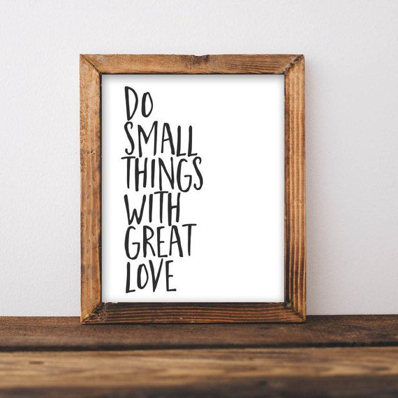 wall art quotes quote printable wall art, do small things with great love printable quote XIDVEGS