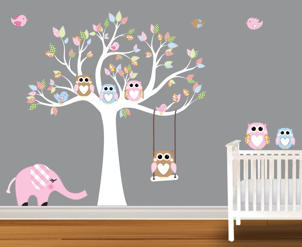 wall decals for nursery baby wall decals - nursery wall decals birch trees - youtube RYZBMFV