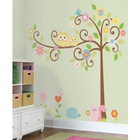 wall decals for nursery ... scroll tree megapack peel u0026 stick wall decal VVCBGAW