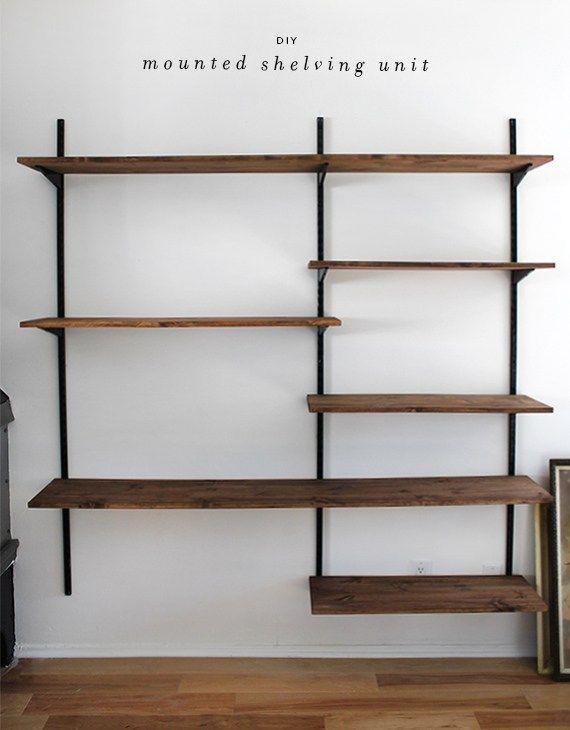 wall mounted shelves 51 diy bookshelf plans u0026 ideas to organize your precious books JJCSPWY