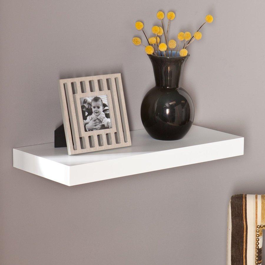 wall mounted shelves boston loft furnishings 24-in w x 2-in h x 10-in ZWXBNEH