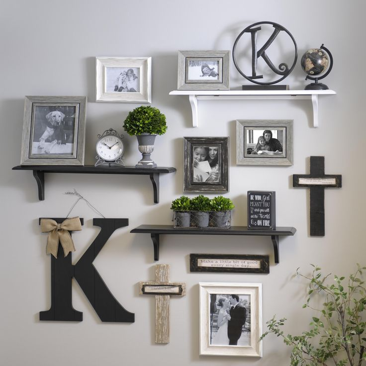 wall shelves adding shelves to the mix when creating gallery walls creates a more PEOWHXZ