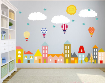 wall stickers for kids city wall decals, nursery wall decal, wall decals nursery, baby wall decal, VEPNNGC