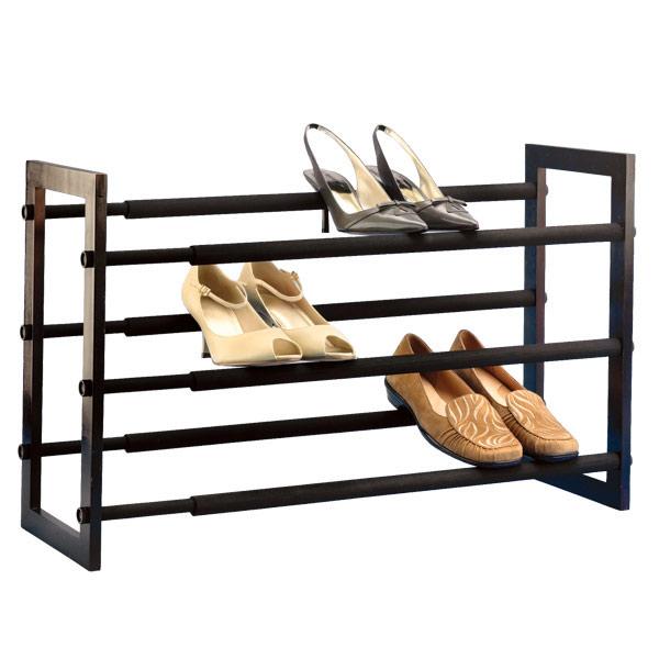 walnut 3-tier grippy shoe rack RCUNYWJ
