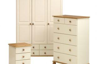 wardrobe sets arabella painted triple wardrobe bedroom set including free delivery  (102.999.46) | pine QVMIHWO