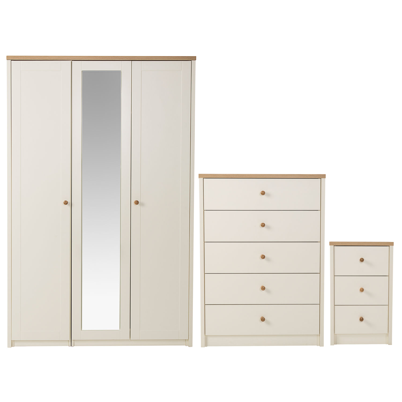 wardrobe sets findon 3 door wardrobe, 5 drawer chest and 3 drawer bedside set sticker ECOBIOT