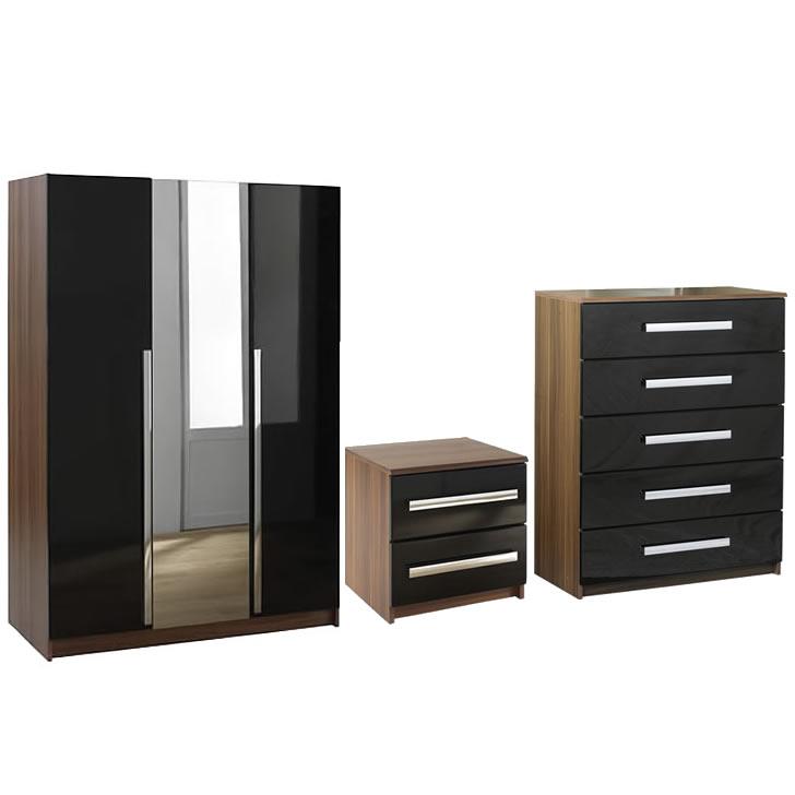 wardrobe sets las vegas 3 door wardrobe, bedside and 5 drawer chest set - next PDVJOLK