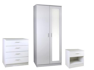wardrobe sets ottawa 3 piece bedroom set with 2 door wardrobe with mirror QPTXKGB