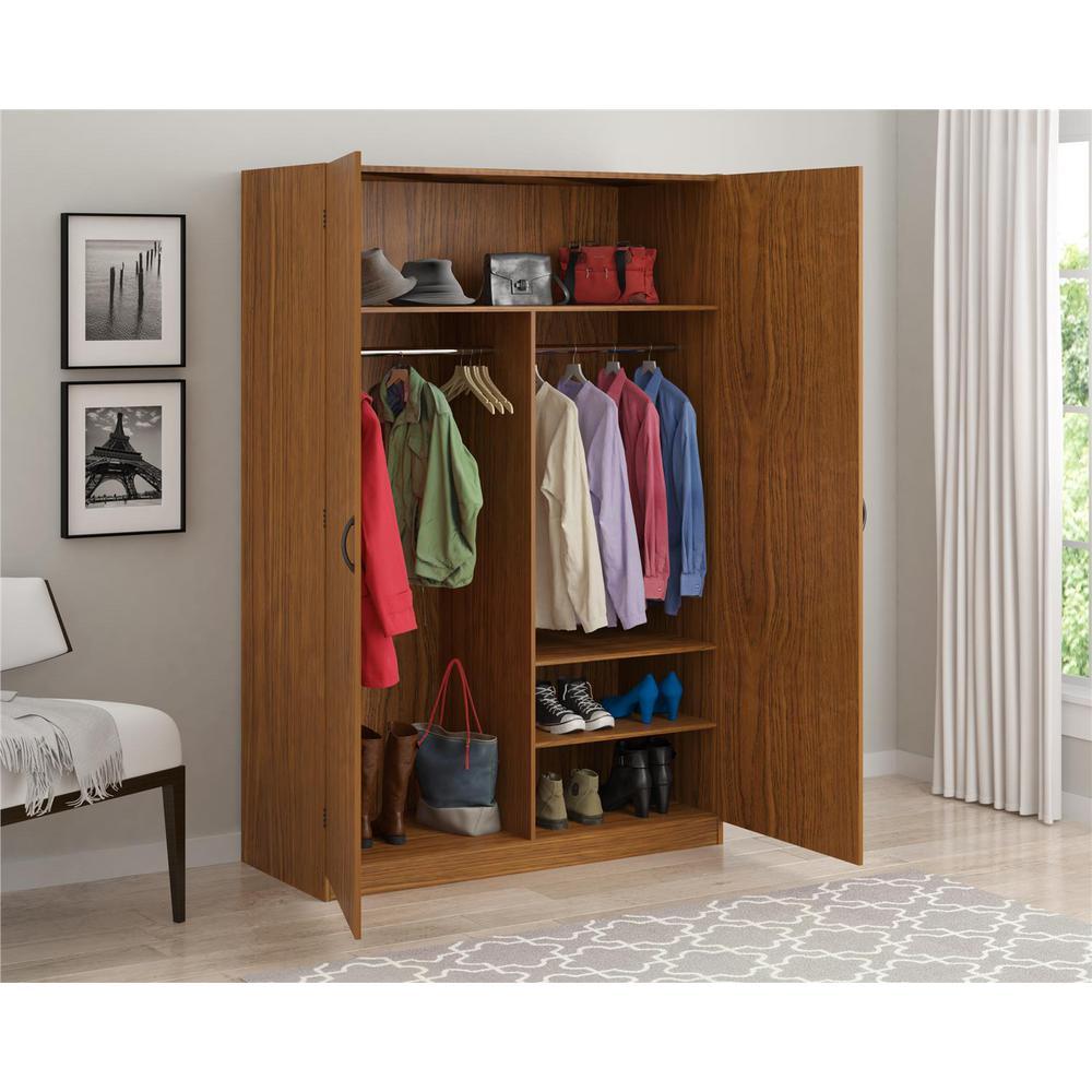 wardrobe storage closet, city oak NXRIXDL