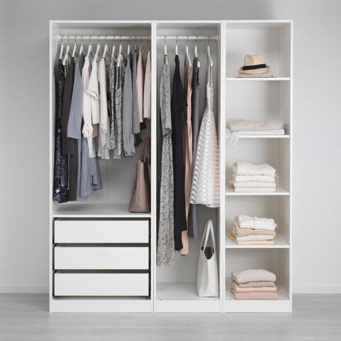 wardrobe storage open wardrobe ikea small white WPFZTTL