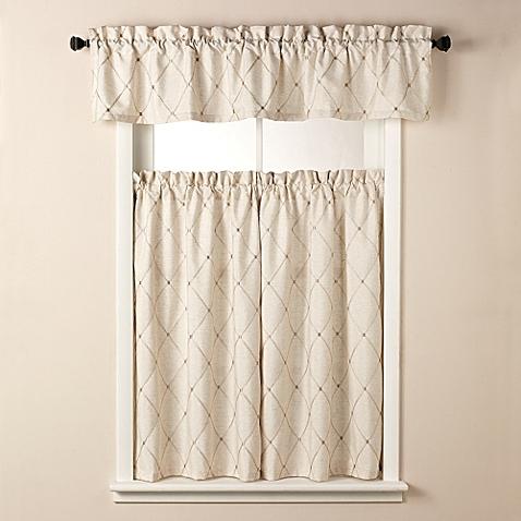 wellington window curtain tier pairs and valance DAKZJDO