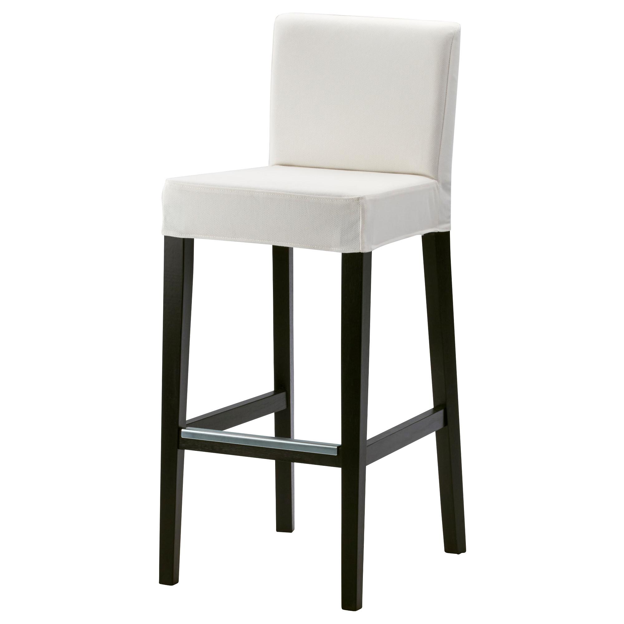 white bar stools henriksdal bar stool with backrest, brown-black, gräsbo white tested for:  243 YECXMDG
