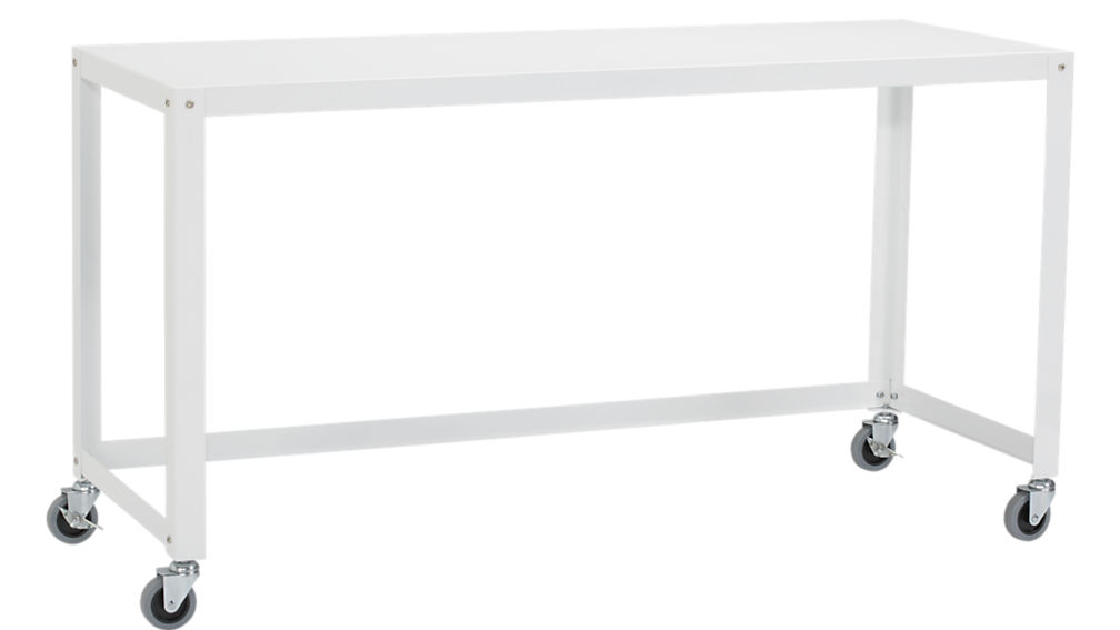 white console table ... go-cart white rolling console table ... RIQXVAW