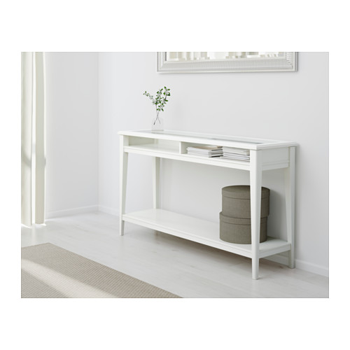 white console table liatorp console table - white/glass - ikea FWYCAPZ
