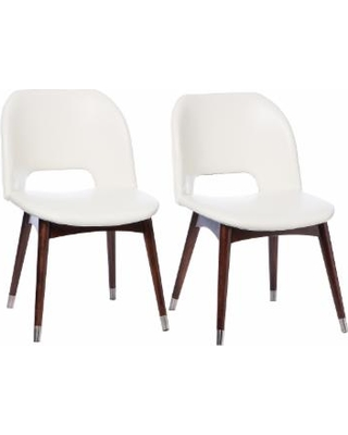 white dining chairs betty modern white leather dining chairs LAZONMF
