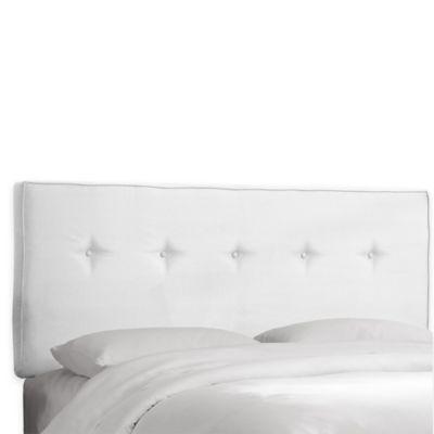 white headboard skyline furniture ashland queen headboard in premier white UBYOIWD