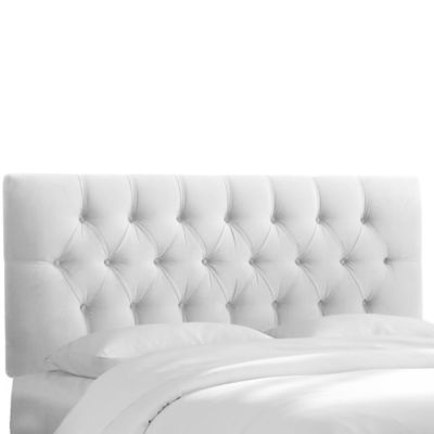 white headboard skyline furniture bishop queen headboard in velvet white IZMIERO