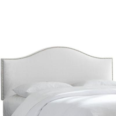 white headboard skyline furniture hinsdale queen headboard in premier white BVYZOGT