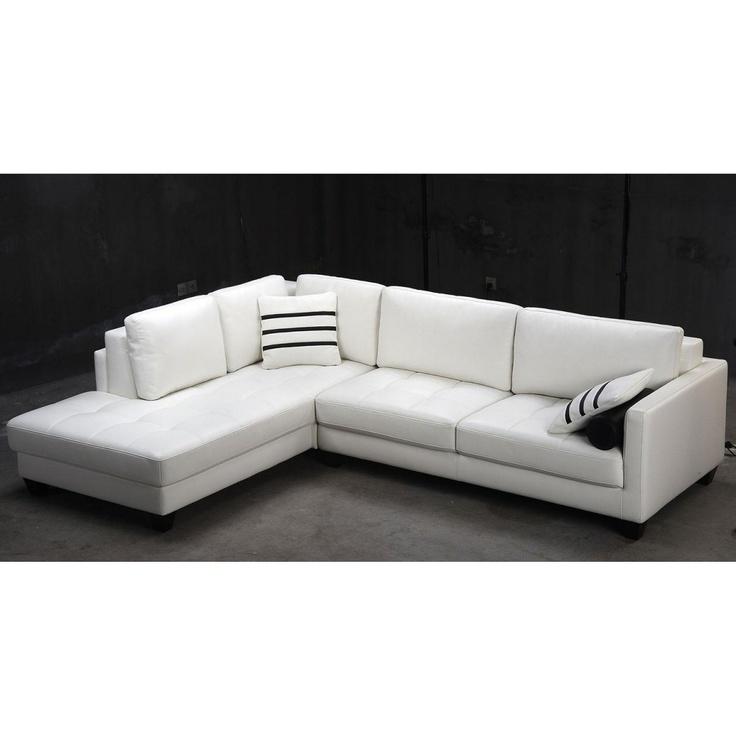 white leather sofa tosh furniture modern white leather sectional sofa BYOOKHG