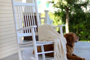 white rocking chair coral coast indoor/outdoor mission slat rocking chair - white - outdoor rocking EDZOOMT