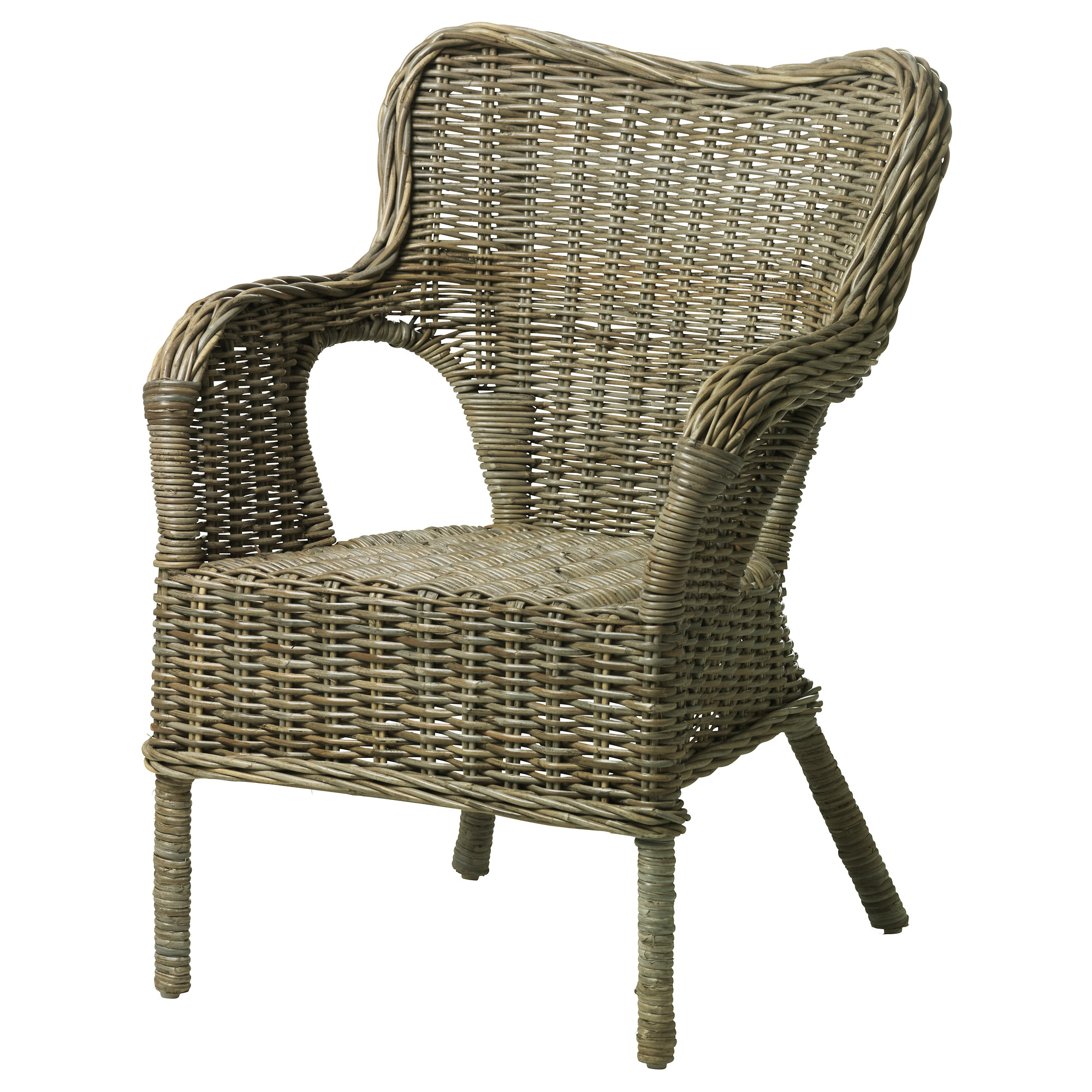 wicker chairs byholma armchair - ikea QMBPGWR