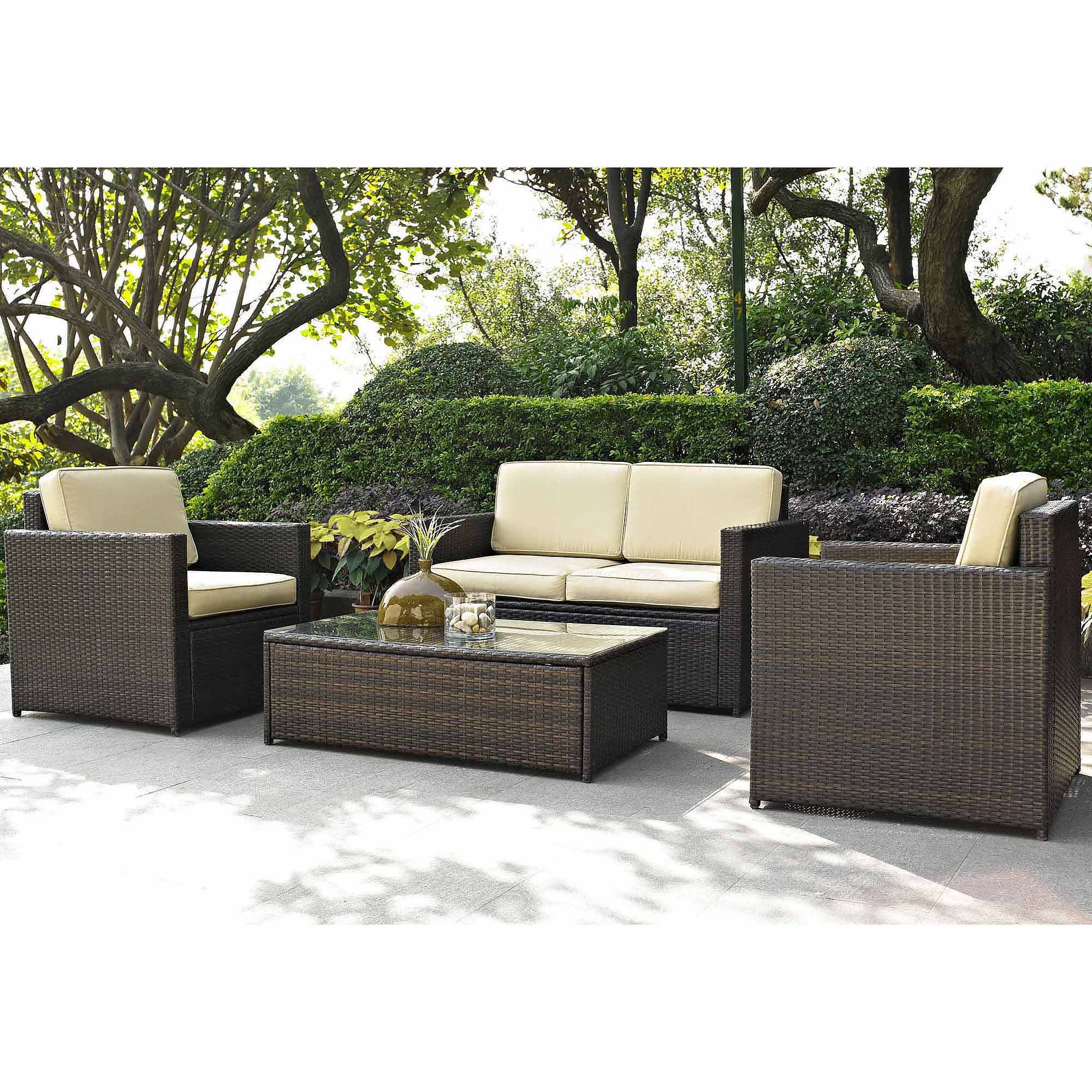 wicker patio furniture best choice products outdoor garden patio 4pc cushioned seat black wicker  sofa ITTPMJW