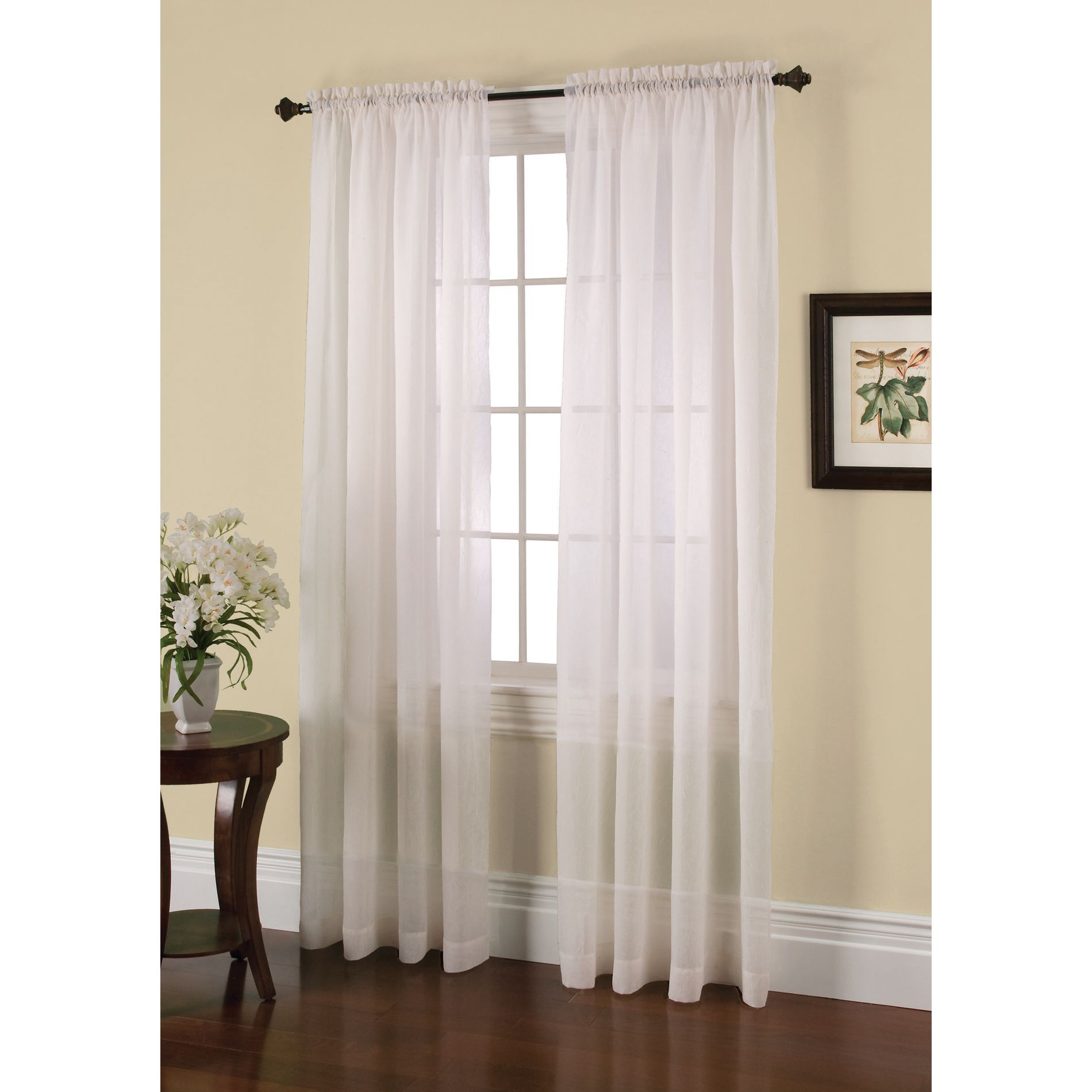 window panels jaclyn smith crushed voile curtain white: get classic at sears u0026 kmart WCYUEXH