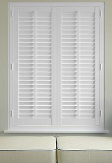 window shutters image for plantation shutters, classic full height - chalk white ... VZDKCWC