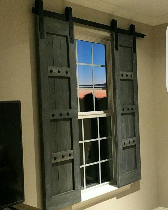 window shutters interior window barn door - sliding shutters - barn door shutter hardware NXXZDAO