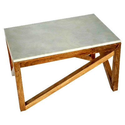 wood and marble coffee table - threshold™ SUXJGQL
