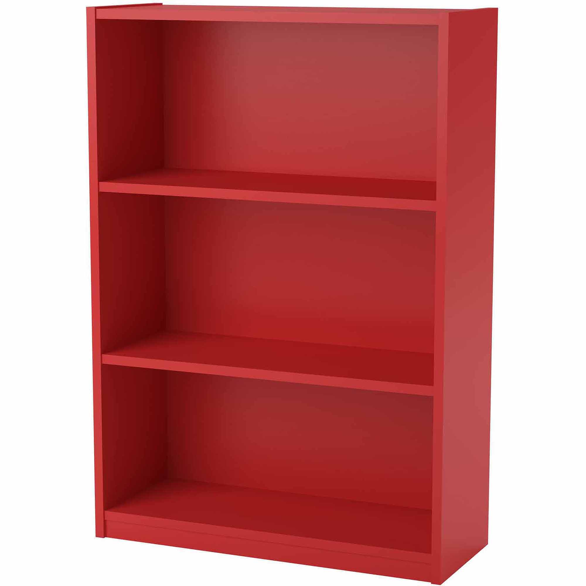 wood bookcase ameriwood 3-shelf bookcase, multiple finishes - walmart.com UXHVTEZ