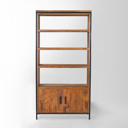 wood bookcase detailed view ... QSFLITQ