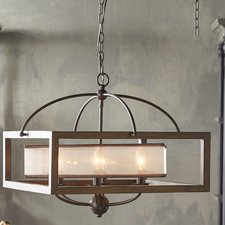 wood chandelier bundoran 6-light candle-style chandelier KRWSFGA