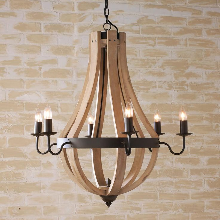 wood chandelier wooden wine barrel stave chandelier IAERCZQ
