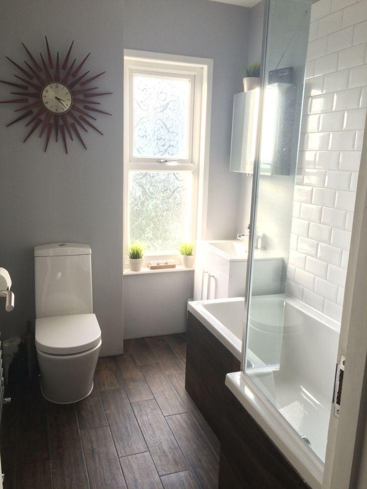 wood effect floor tiles white metro tiles for bathroom. dulux chic shadow GZJQJBF