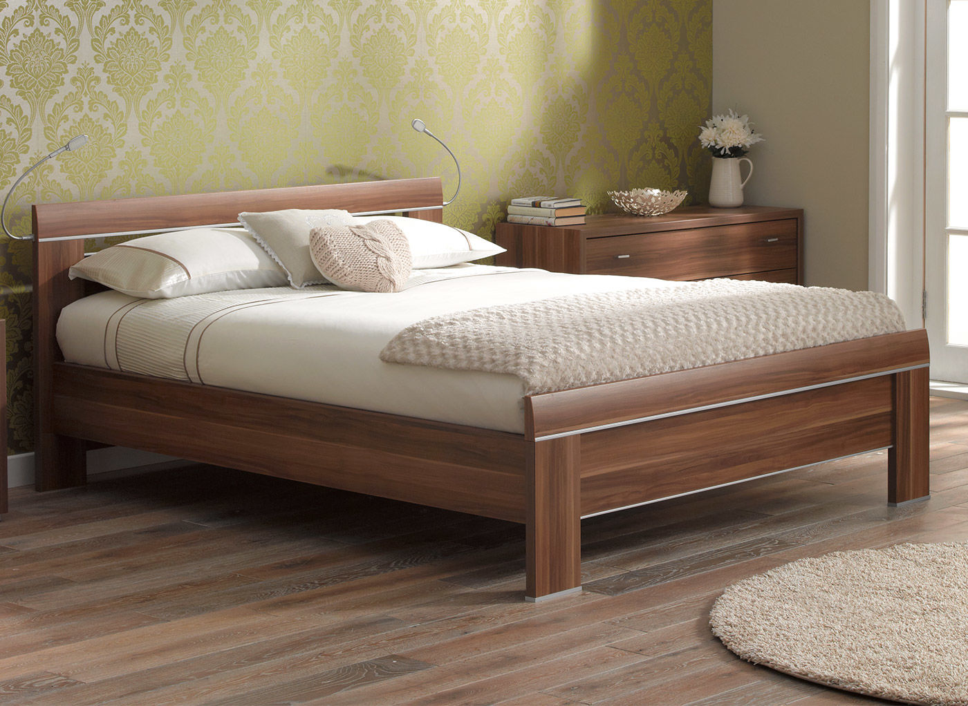 wooden beds berkeley bed frame walnut OXVQOQF