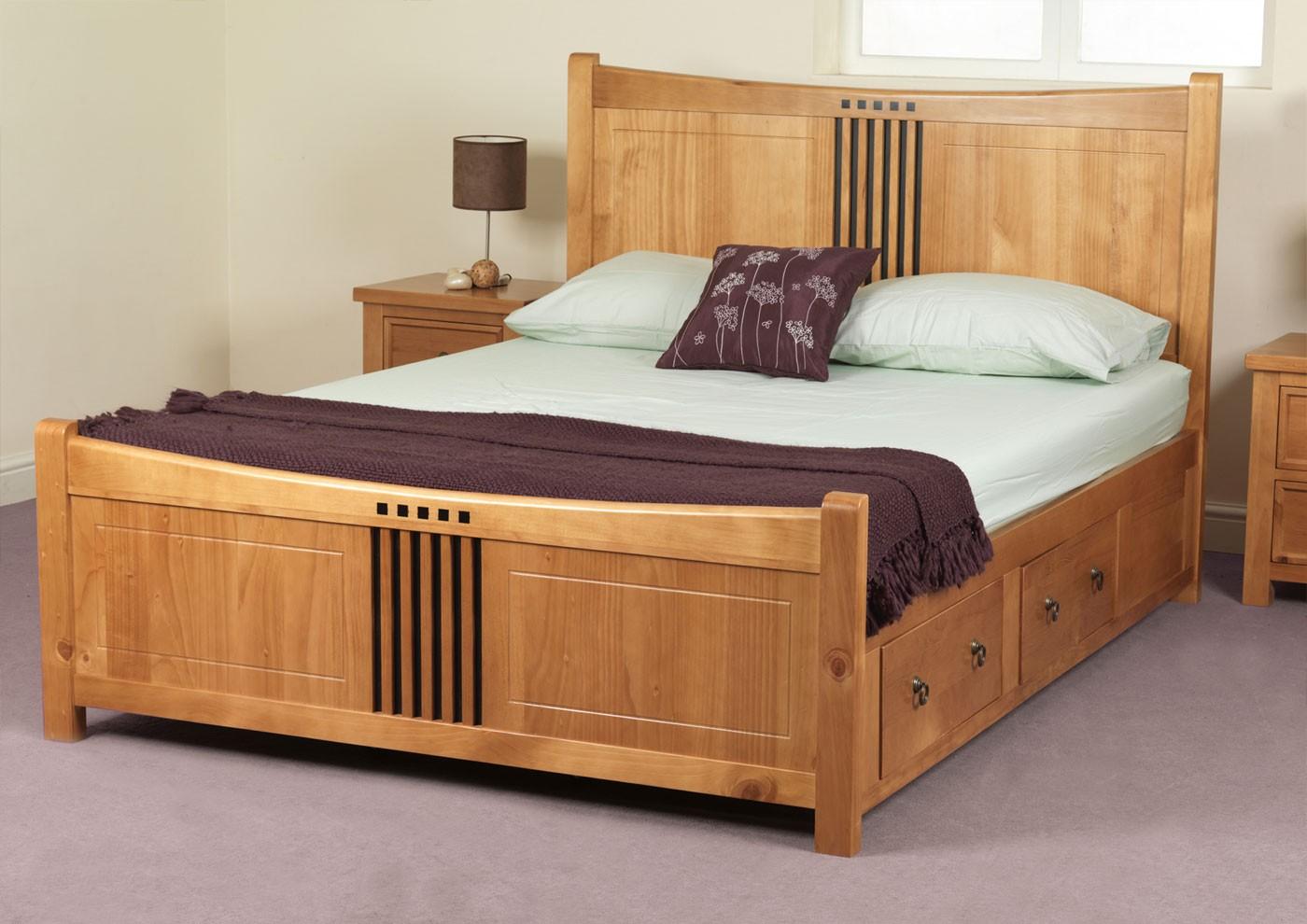 wooden beds bespoke oak bed AWONXHA