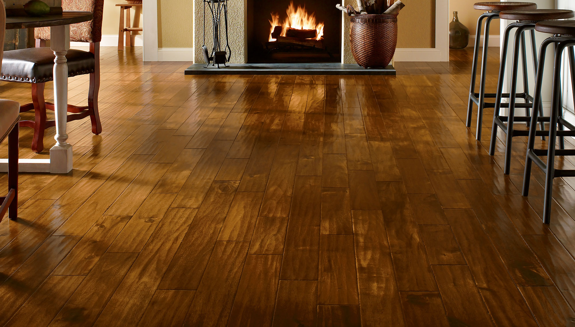 Remolding the floors with wooden flooring