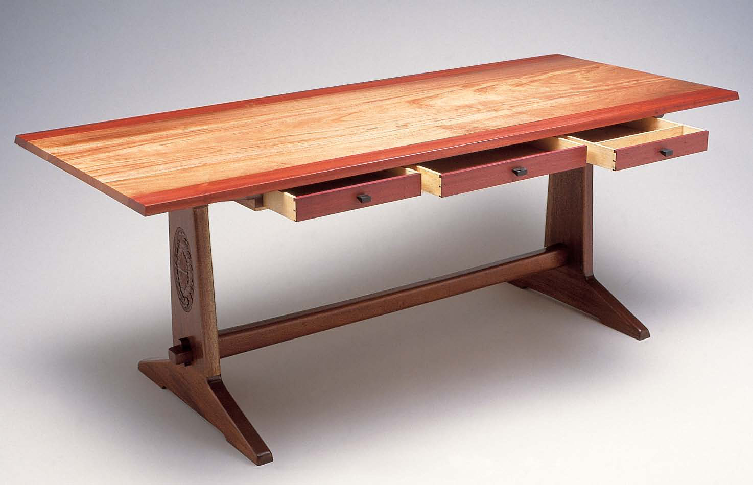 wooden furniture 1. design and build a diy trestle table FRPQIDC