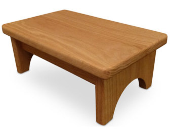 Wooden step stool hollandcraft - wood step stool wooden foot stool bed step stool beside stool OMOMSWK