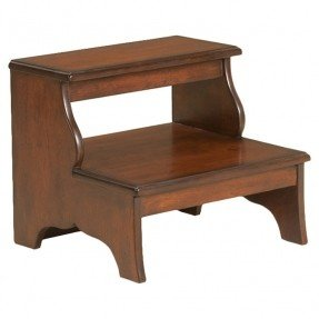 Wooden step stool plantation cherry 2-step wood step stool FVILMPR