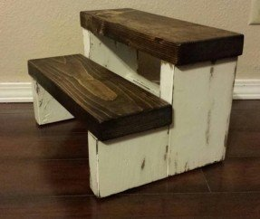 Wooden step stool rustic stepstool wood stool farmhouse style step by owassodesign, $34 WAFUEPH